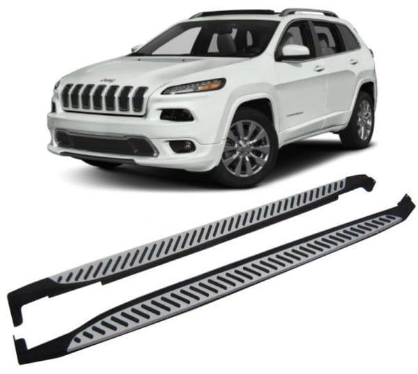Side Steps For Use With Jeep Cherokee 2014 To Present - chameleonsidesteps.co.uk
