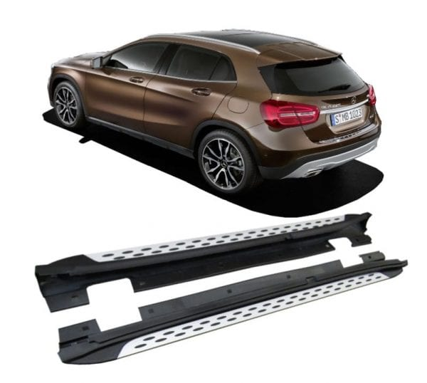 Side Steps For Use With Mercedes Gla (x156) 2014 To 2018 - chameleonsidesteps.co.uk